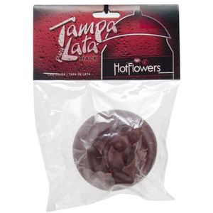 TAMPA PARA LATINHA VAGINA BLACK HOT FLOWERS