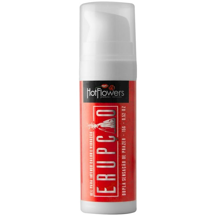 ERUPÇÃO GEL INTENSO CALOR E VIBRAÇÃO 15G HOT FLOWERS