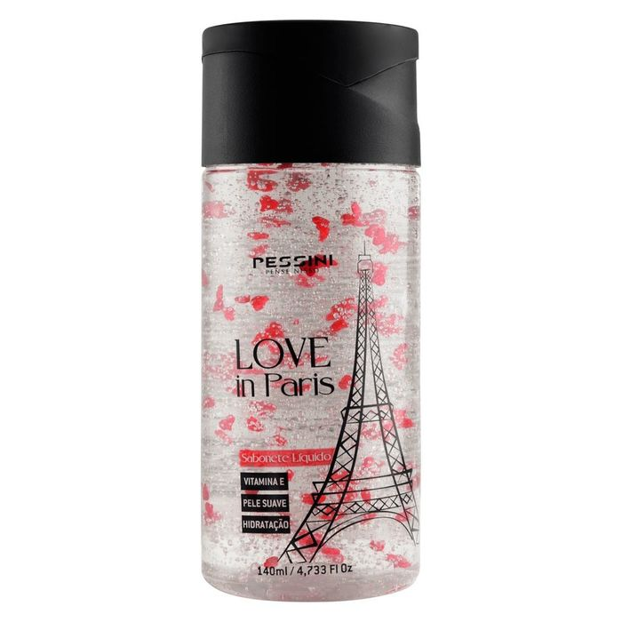 SABONETE LÍQUIDO LOVE IN PARIS 140ML PESSINI