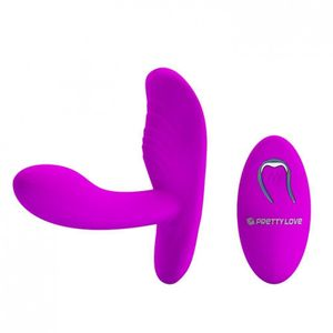 VIBRADOR WIRELESS PENETRADOR 12 VIBRAÇÕES PRETTY LOVE CIA IMPORT