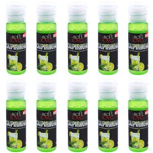 PACK 10 GÉIS HOT CAIPIRINHA 15ML SOFT LOVE