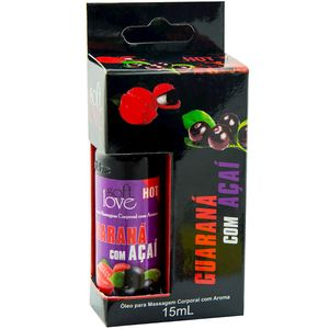 Pack 10 Géis Hot Guaraná Com Açaí 15ml Soft Love