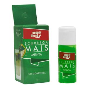 PACK 10 MENTA SCURREGA MAIS GEL COMESTÍVEL 15GR PEPPER BLEND