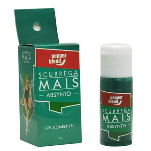 PACK 10 ABSINTO SCURREGA MAIS GEL COMESTÍVEL 15GR PEPPER BLEND