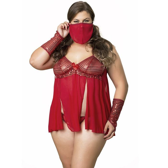 KIT FANTASIA PLUS SIZE FEITICEIRA PIMENTA KENTE
