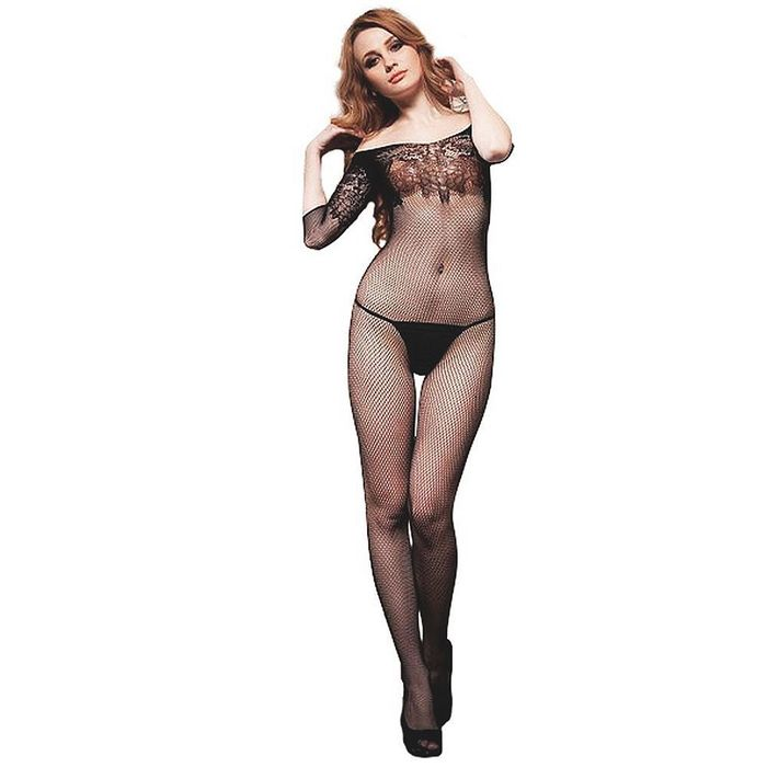 BODYSTOCKING MACACÃO RENDADO CIA IMPORT