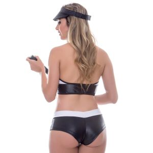 KIT FANTASIA POLICIAL SHORT CIRRET AMARETO
