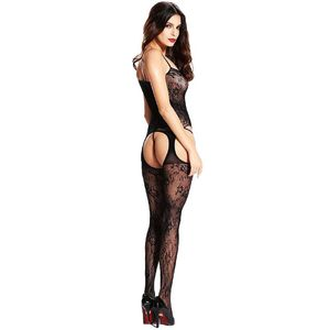 BODYSTOCKING MACACÃO RENDADO 47 CIA IMPORT