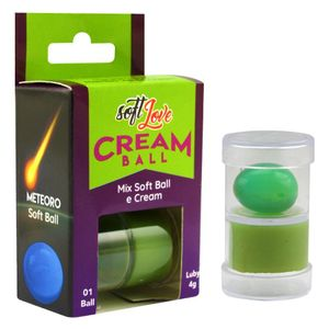 BOLINHA COM GEL CREAM BALL METEORO MAMBA VERDE 4G SOFT LOVE