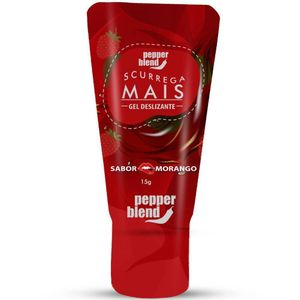 Pack 10 Morango Scurrega Mais Gel Comestível 15gr Pepper Blend