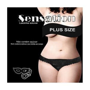 CALCINHA SOLÚVEL PLUS SIZE SENSATION PETITCHERRY