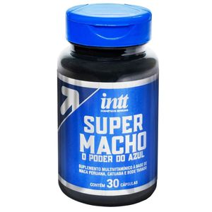 SUPER MACHO O PODER DO AZUL 30 CAPSULAS INTT