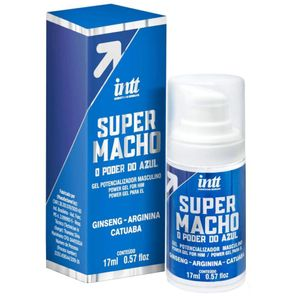 Super Macho O Poder Do Azul Gel Potencializador 17ml Intt