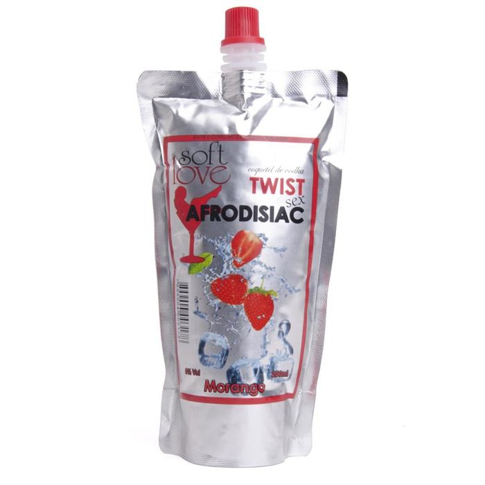 TWIST SEX MORANGO COQUETEL AFRODISIÁCO 200ML SOFT LOVE