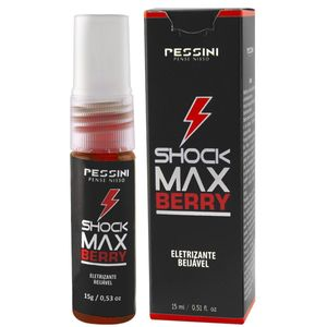 SHOCK MAX BERRY GEL ELETRIZANTE BEIJÁVEL 15ML PESSINI