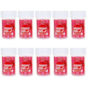 Pack 10 Morango Pepper Ball Plus Comestível Dupla 3,2ml Pepper Blend