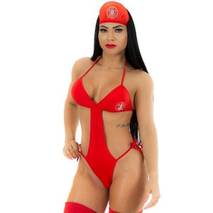 MINI FANTASIA BOMBEIRA BODY PIMENTA SEXY