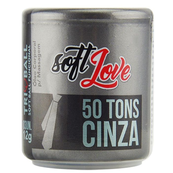 Soft Ball Triball 50 Tons De Cinza 12g 03 Unidades Soft Love