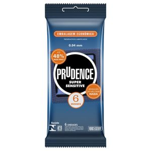 Preservativo Super Sensitive Com 6 Unidades Prudence