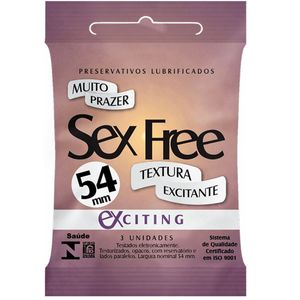 Preservativo Exciting Com 3 Unidades Sex Free