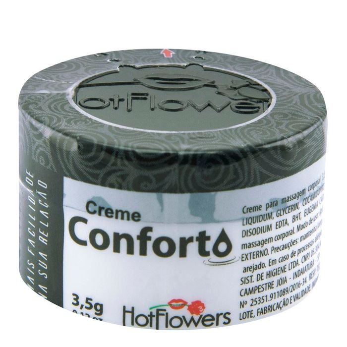 Conforto Creme 3,5g Excitante Anal Hot Flowers