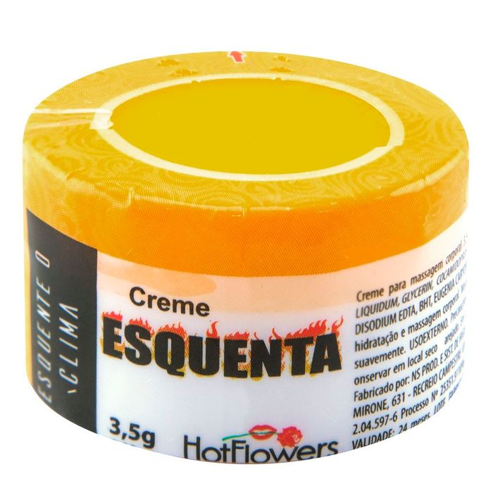 Esquenta Creme 3,5g Excitante Unissex Hot Flowers