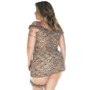 CAMISOLA SENSUAL PLUS SIZE ONCINHA CHICK PIMENTA SEXY