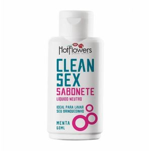 Higienizador Para Protese Clean Sex Menta 60ml Hot Flowers
