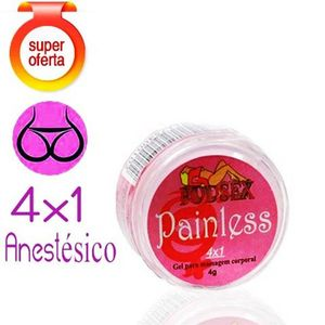 Anestésico Anal 4x1 Painless 4G - PSEX
