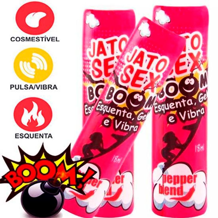 Jato sex Boom ( Esquenta Gela e Vibra) 18 ml - Pepepr Blend