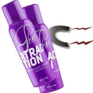 PHER  ATRACTION DESODORANTE AFRODISÍACO -  85ML - SOFT LOVE