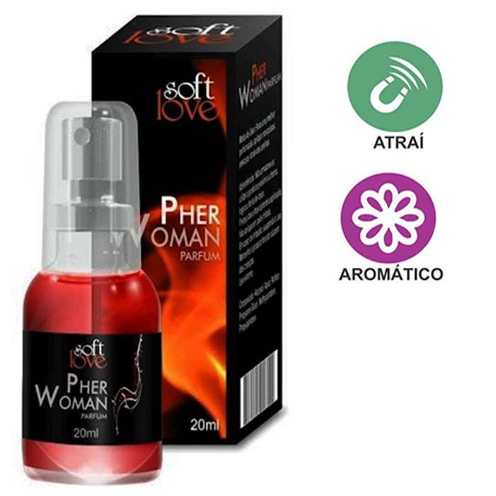 PHER WOMAN PERFUME FEMININO AFRODISÍACO 20 ML - SOFT LOVE