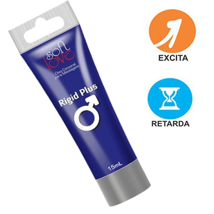 Rigid Plus 15ml - Soft Love (Provocador e Prolongador de Ereção)