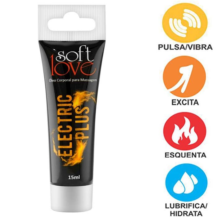 ELETRIC PLUS GEL ELETRIZANTE 15ML SOFT LOVE