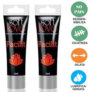 Anestésico Anal 4x1 Facilit Bisnaga 15ml- Soft Love