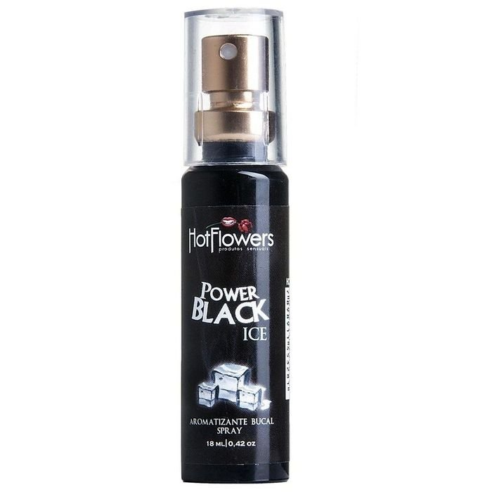 SPRAY BUCAL POWER BLACK ICE 18 ML -  HOT FLOWERS