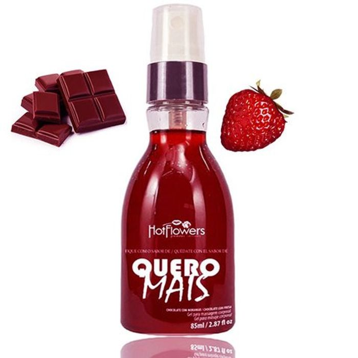 QUERO MAIS GEL CORPORAL BEIJÁVEL 85ML HC 571- HOT FLOWERS