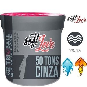 SOFT BALL TRIBALL 50 TONS DE CINZA - 03 UN - SOFT LOVE