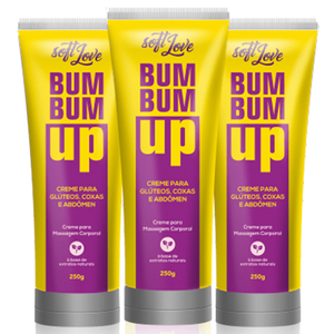 CREME PARA GLÚTEOS( Fortalece e endurece) BUM BUM UP 250G - SOFT LOVE