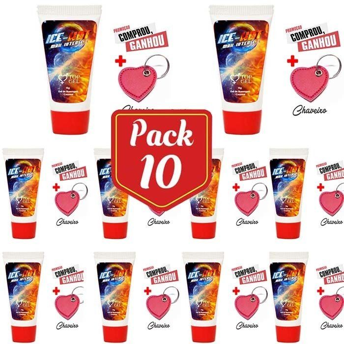 PACK10- ICE HOT (ESQUENTA E GELA) EXCITANTE BEIJAVEL 15 ML