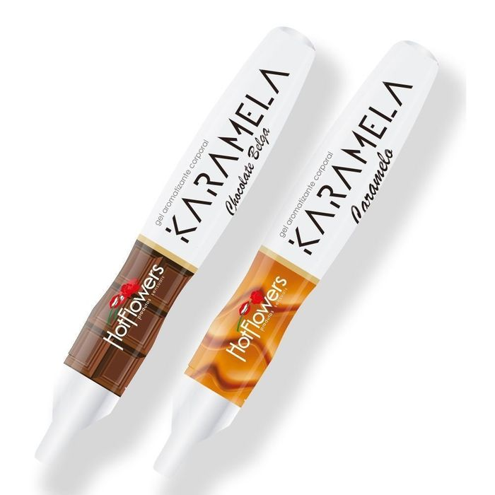 CANETA HOT PEN KARAMELA COMESTÍVEL 35G - HOT FLOWERS