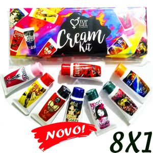 KIT CREAM 8x1 (8 EXCITANTES EM CREME) - TOP GEL