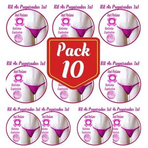 Pack/10 kit Sensual As Preparadas 3x1 - Jeito sexy