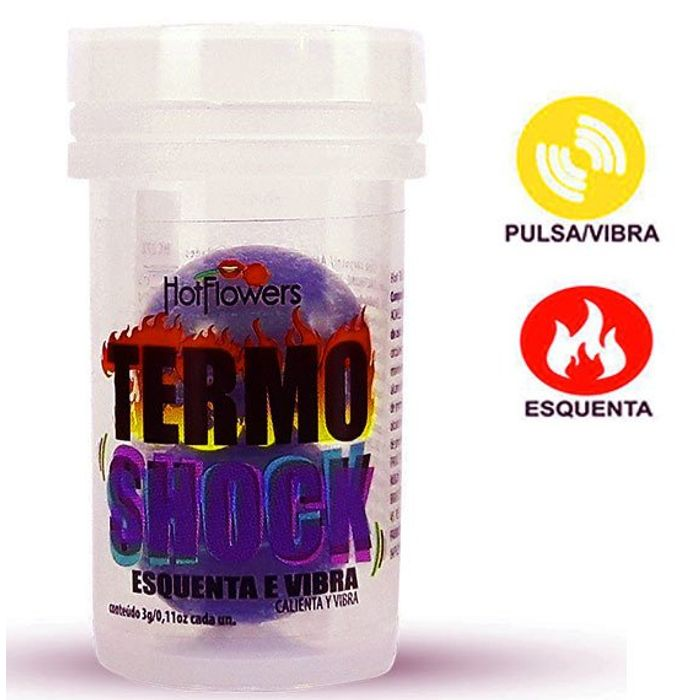 HOT BALL TERMO SHOCK - ESQUENTA VIBRA 02 UNIDADES - HOT FLOWERS