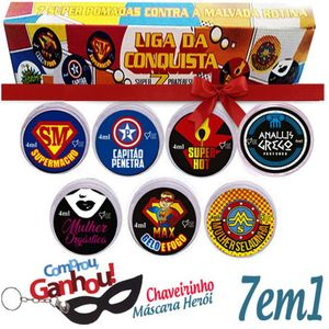 KIT LIGA DA CONQUISTA  (HEROIS DO SEXO ) - TOP GEL