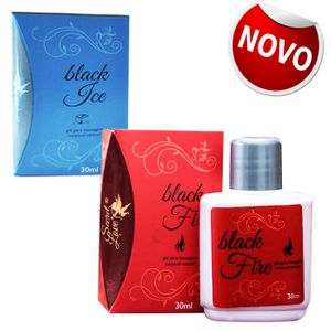BLACK ICE E BLACK FIRE GEL PARA MASSAGEM SEXO ORAL 30G - SECRET LOVE