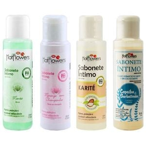 SABONETE ÍNTIMO LÍQUIDO 35ML HOT FLOWERS