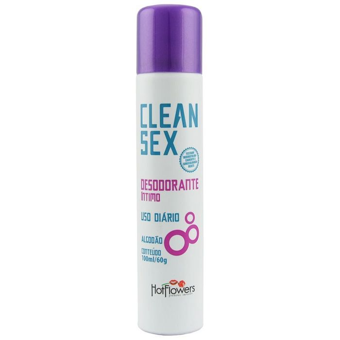 Clean Sex Desodorante íntimo Uso Diário 100ml Hot Flowers