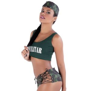 KIT FANTASIA MILITAR SHORT AMARETO