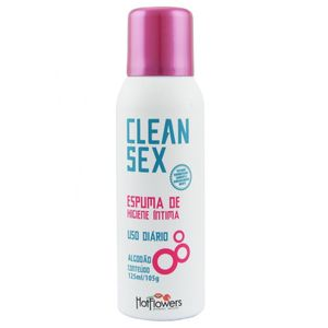 CLEAN SEX ESPUMA HIGIENE ÍNTIMA USO DIÁRIO 125ML HOT FLOWERS